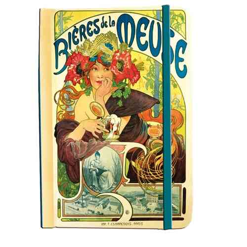 "Address book Alfons Mucha ""Bieres de la Meuse"""