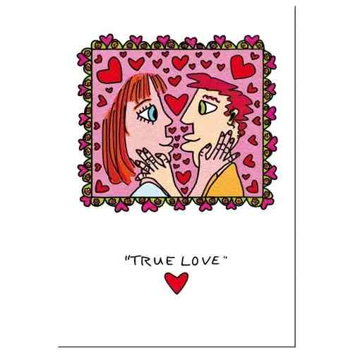 "James Rizzi card with envelope ""True Love"""