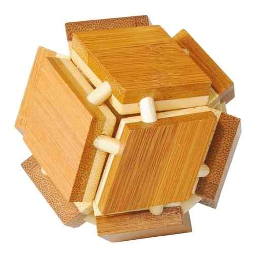 "3D puzzle, ""Magic box"", bamboo, IQ test"