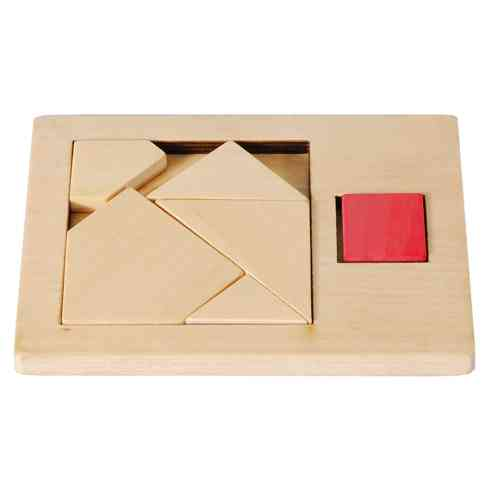 "IQ-Test ""Extra Piece"", Square 1, wooden puzzle"