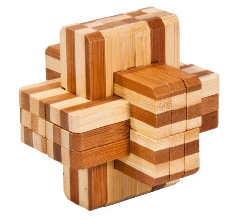 Iq Test Bamboo Puzzle Block Cross Fridolin