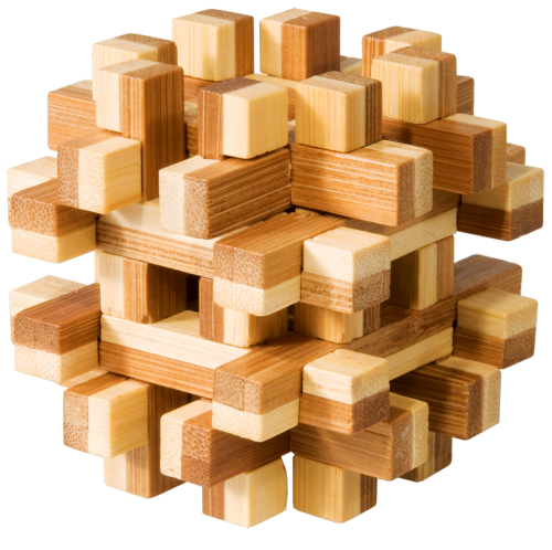 "3D-Puzzle, ""Magic blocks"", bamboo IQ test"