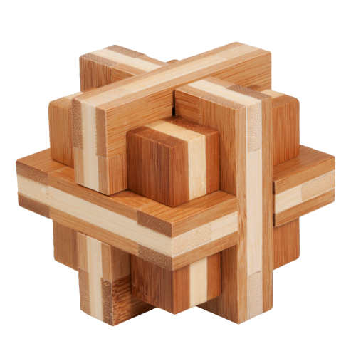 "3D puzzle, ""Double cross"", bamboo, IQ test"
