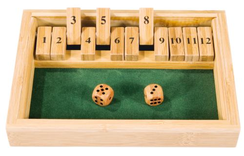 "Bamboo game ""Shut the box"""