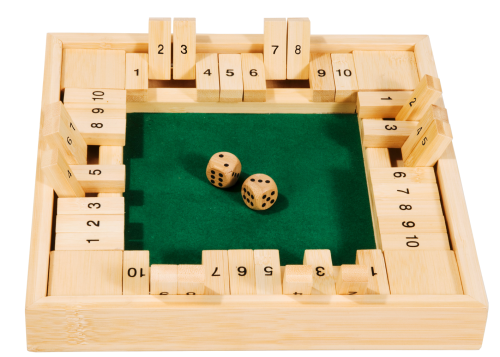"Bamboo game ""Shut the box"", 4 Players"