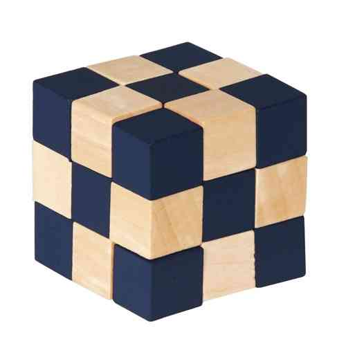 Wooden cubes, natural/black