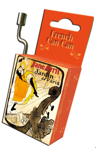 "Spieluhr ""French Can Can"" in Box ""Art Nouveau"""