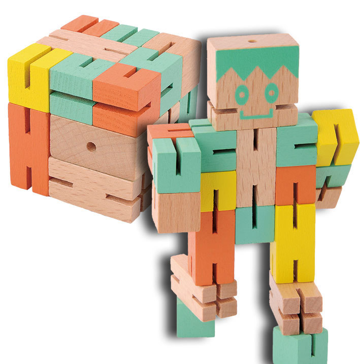IQ-Test Puzzle – Boy 1 green/yellow/orange - Fridolin