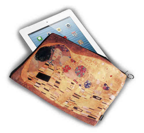 "Tablet bag 10"" - ""Klimt - The kiss"""