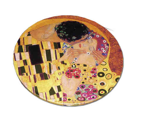 "Coasters, metal and cork, in box ""Klimt"""