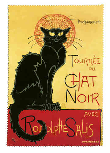 "Brillenputztuch ""Chat Noir"""