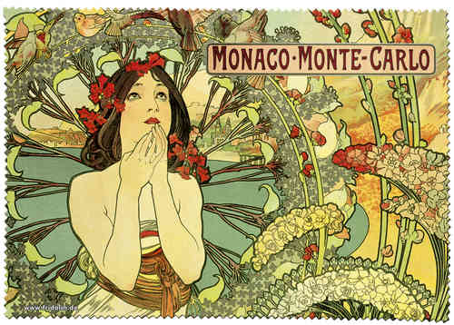 "Eyeglass cleaning cloth ""Art Nouveau - Monte Carlo"""