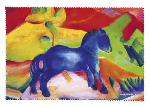 "eyeglass cleaning cloth ""Franz Marc - Blue horse"""