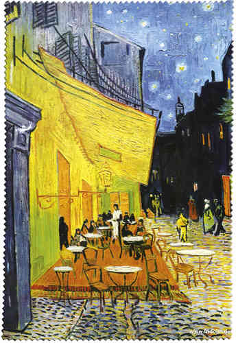 "Eyeglass cleaning cloth ""Van Gogh - Café de Nuit"""