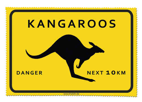 "Brillenputztuch ""Adventure Time - Kangaroos"""