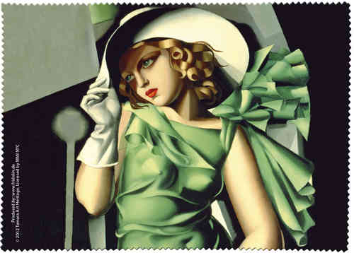 "Brillenputztuch ""Lempicka - Young lady with gloves"""