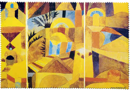 "Eyeglass cleaning, cloth ""Paul Klee - The temple garden"""