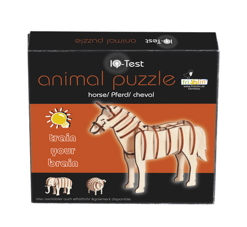 "3D-Animal-Puzzle, ""Horse"", IQ-Test, wooden"