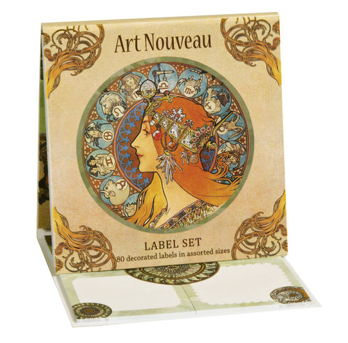 "Label Set Book (80 labels) ""Art Nouveau"" - Fridolin"