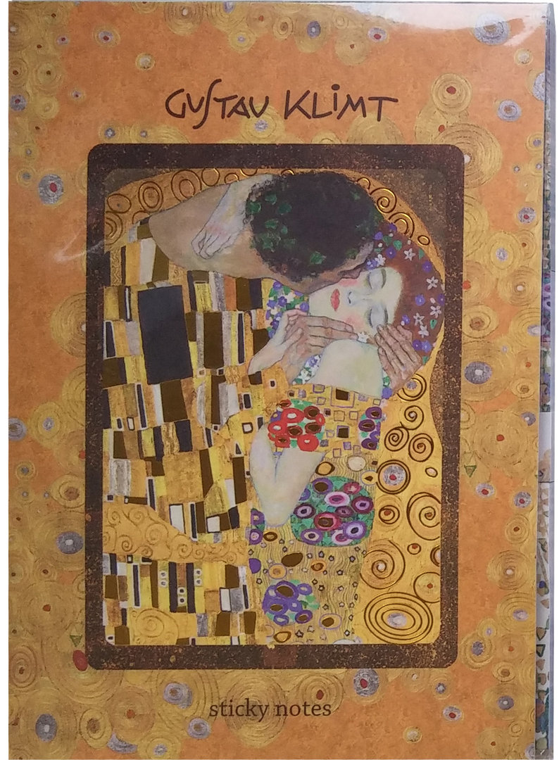 haftnotizen klebezettel buch gustav klimt fridolin. Black Bedroom Furniture Sets. Home Design Ideas
