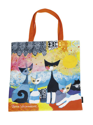 "Art Shopping Bag ""R. Wachtmeister - Merletto nero sole"""