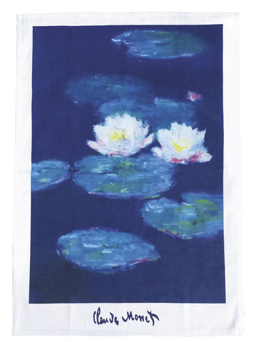 "Tea towel ""Monet - Water lillies"", made of cotton"
