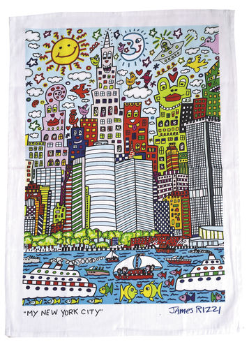"Tea towel ""James Rizzi - My New York City"", made of cotton"