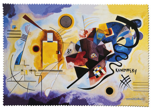 "Eyeglas cleaning cloth ""Kandinsky - Yellow-Red-Blue"""
