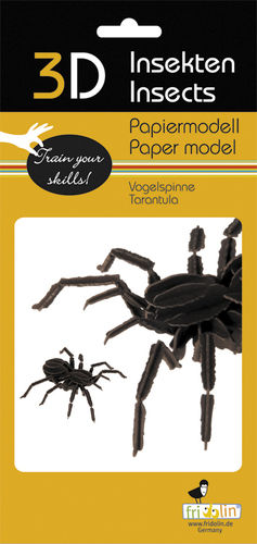 3D Paper model - Bird-eating spider