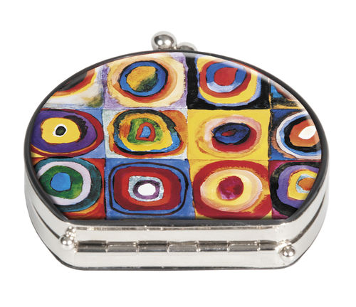 "Pocket mirror ""Kandinsky - Colourstudy"" - textile surface"