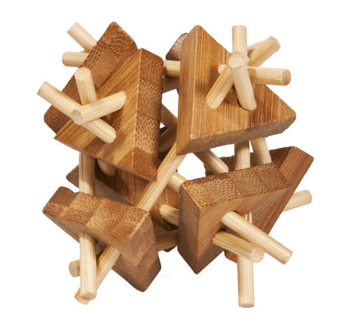 """IQ-Test"" bamboo puzzle ""Sticks with Triangles"""