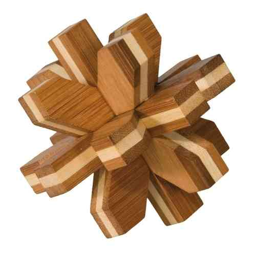"3D-Puzzle, ""Crystal"", bamboo, IQ-Test"