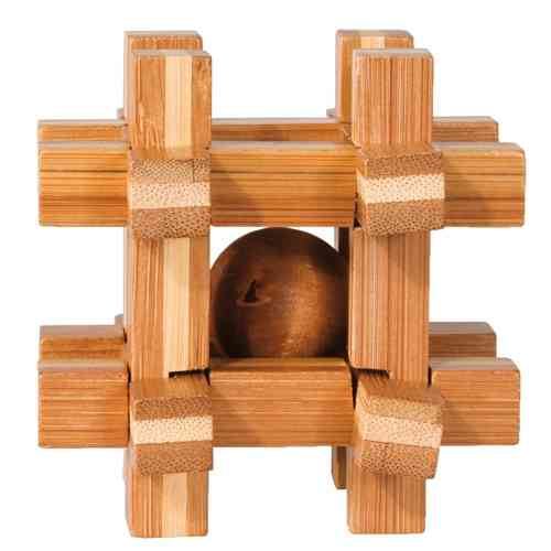 "3D-Puzzle, ""Gridbox"", bamboo, IQ test"