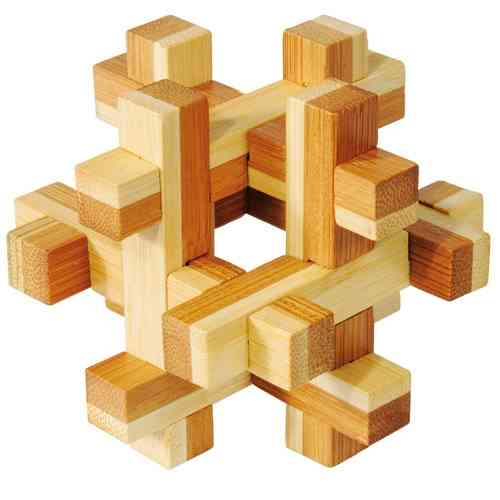 "3D puzzle, ""Construct"", bamboo, IQ-Test"