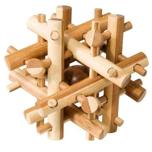 "3D-Puzzle ""magic sticks"", IQ-Test aus Bambus"