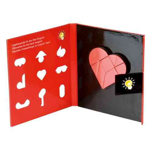Magnetic tangram book, heart