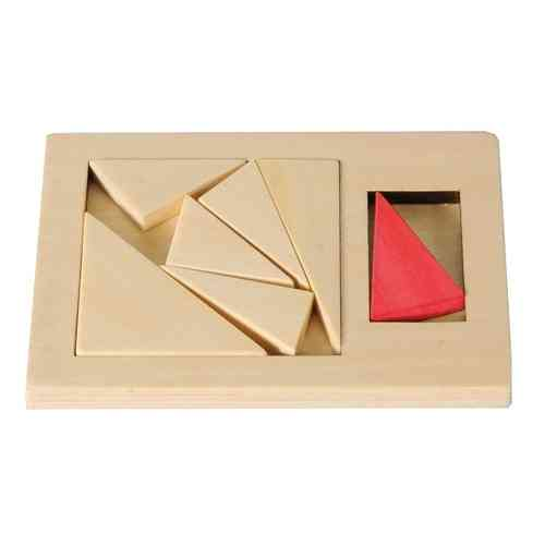 "IQ-Test ""Extra Piece"", Triangle, wooden puzzle"