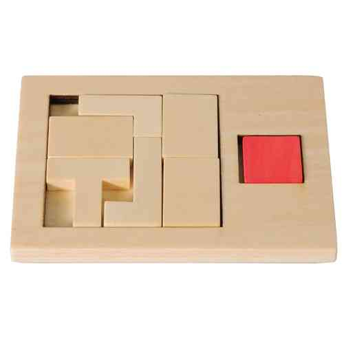 "IQ-Test ""Extra Piece"", T-square 2, wooden puzzle"