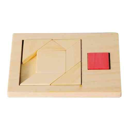 "IQ-Test ""Extra Piece"", Square 3, wooden puzzle"