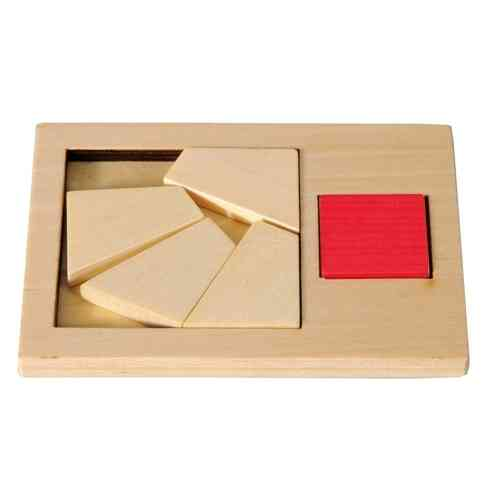 "IQ-Test ""Extra Piece"", Big square, wooden puzzle"