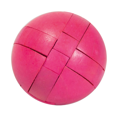"IQ-Test, ""Ball"", magenta, 3D puzzle, wooden"