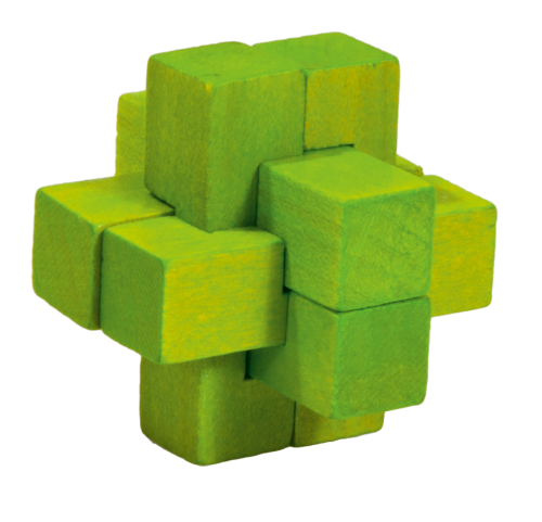 "Wooden puzzle ""Cross"", green"