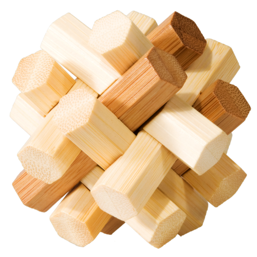 "3D-Puzzle, ""Double knot"", Bamboo IQ-Test"