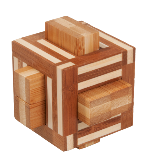 "3D-Puzzle, ""Double sticks"", bamboo IQ test"