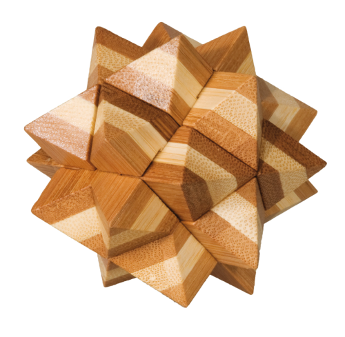"3D puzzle, ""Star"", IQ-Test, bamboo"