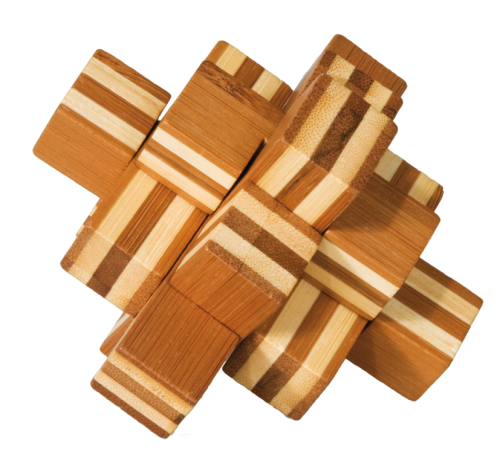 "3D puzzle, ""Block"", IQ-Test, bamboo"