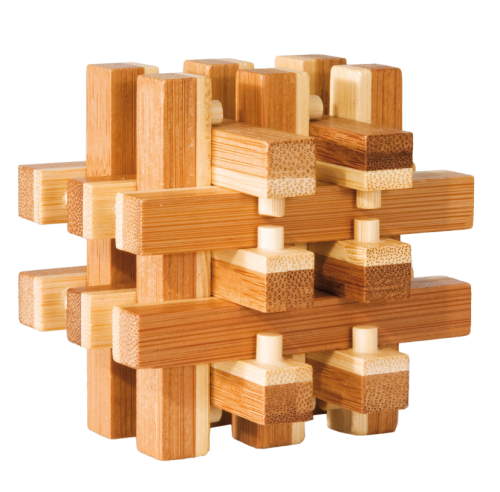 "3D-Puzzle, ""Locked"", bamboo, IQ test"