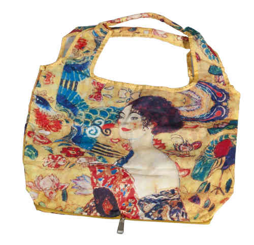 "Shopping bag ""Klimt - Woman with a fan"", bag in bag"