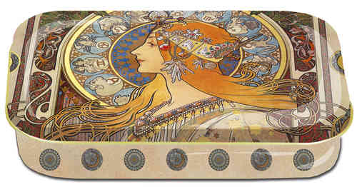 "Art box aus Metall ""Art Nouveau - Zodiak"""