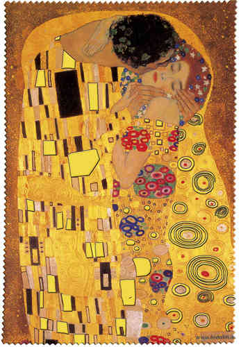 "Eyeglass cleaning cloth ""Klimt - The kiss"""